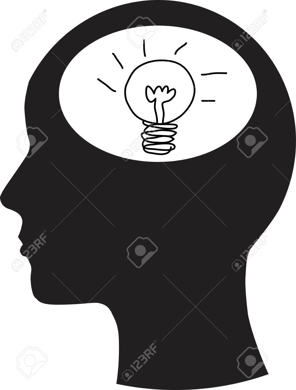 Man and thinking Stock Vector - 14808614