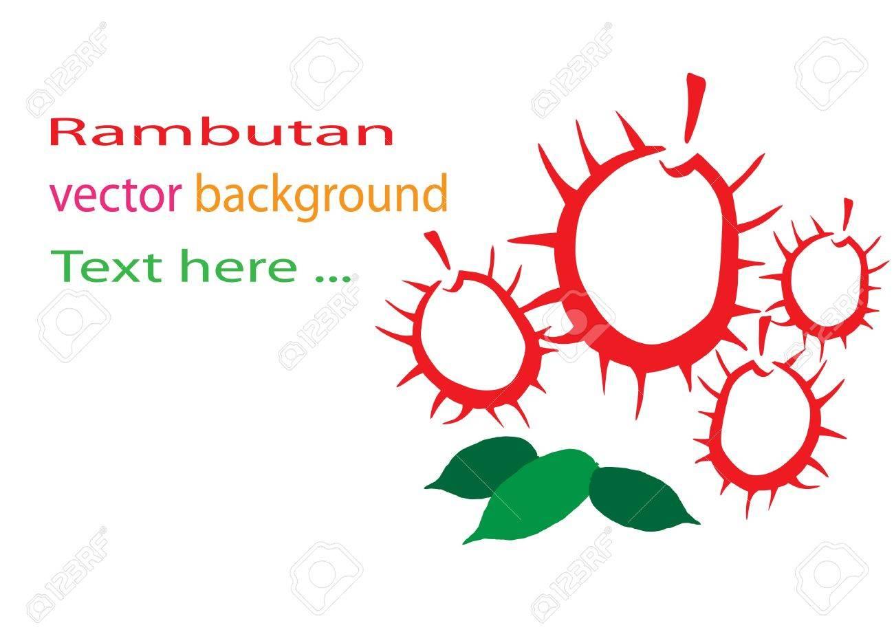 Rambutan background Stock Vector - 15726362