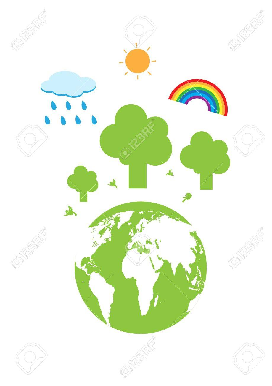Tree and the world vector cartoon Stock Vector - 17619182