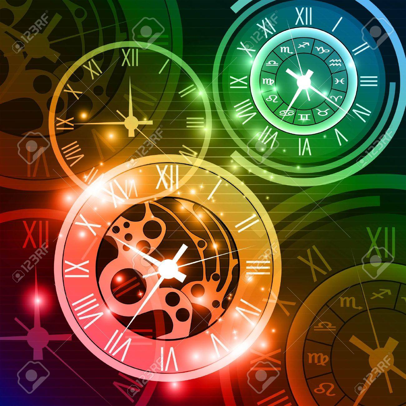 Abstract Clock Background Royalty Free Cliparts Vectors And Stock Illustration Image 18566457
