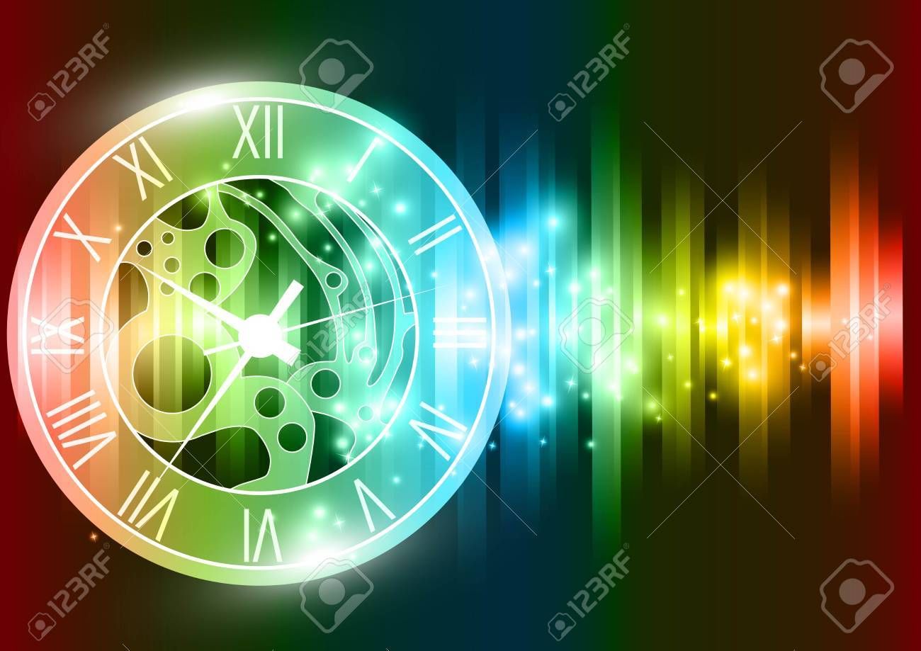 abstract clock background Stock Vector - 18566462