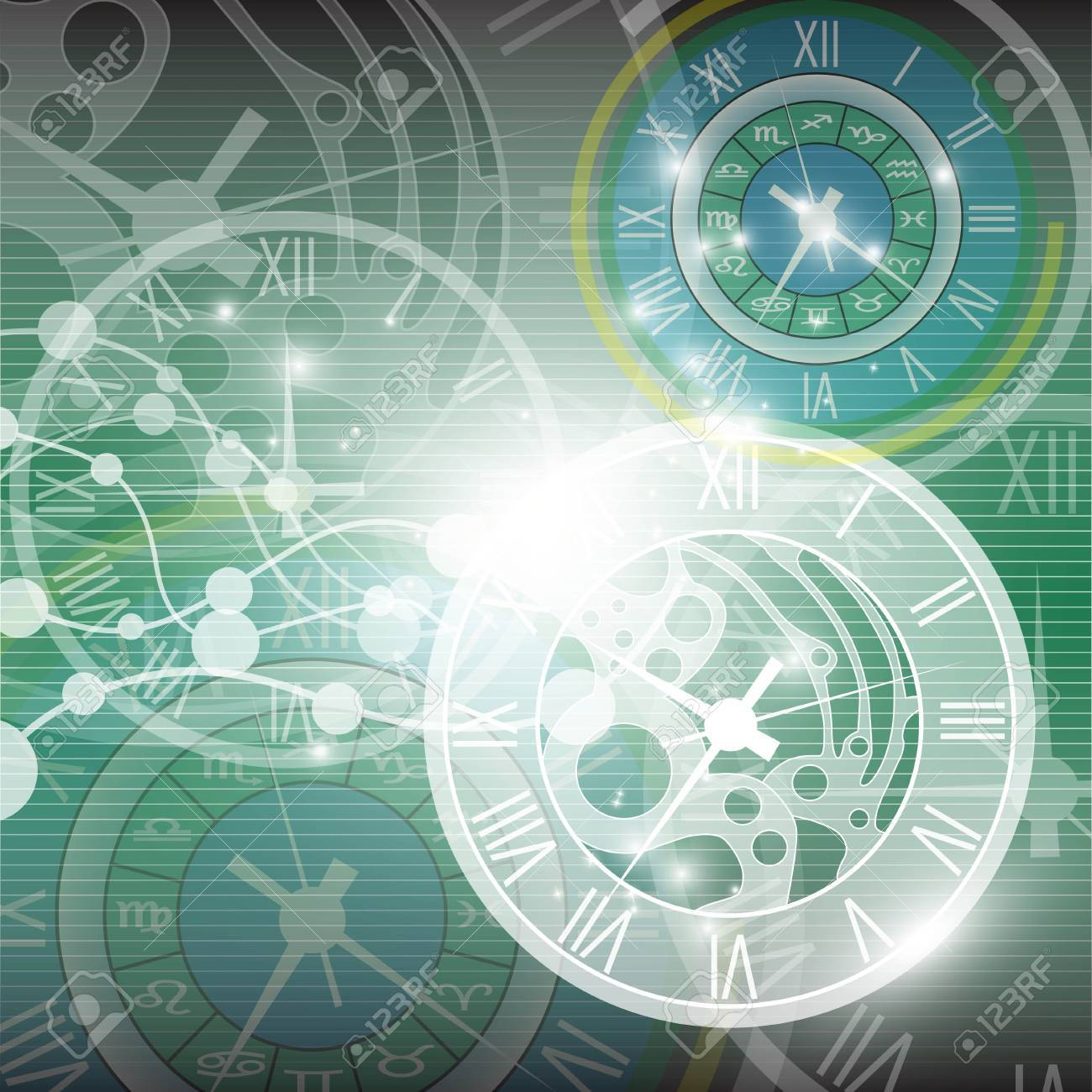 Abstract Clock Background Royalty Free Cliparts Vectors And Stock Illustration Image 18566460