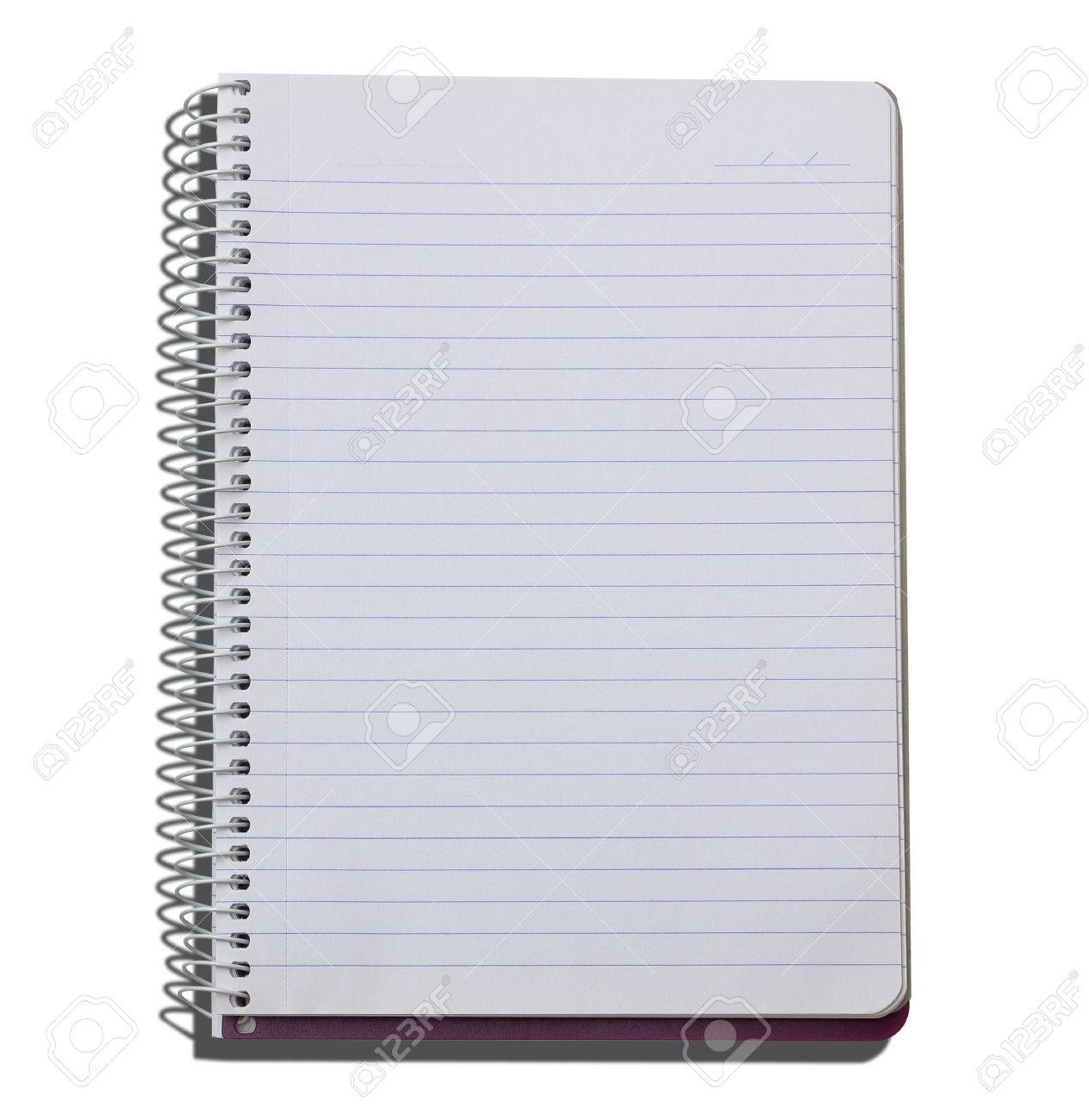 blank lined notebook on isolated stock photo picture and royalty