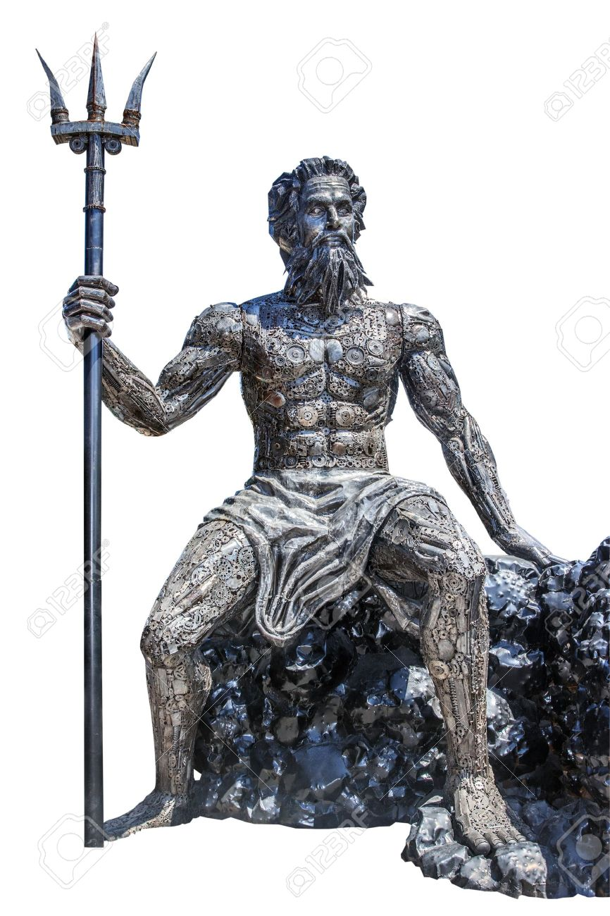 Kako se kalio čelik 19422446-sculpture-poseidon-god-made-from-scrap-metal-on-white-background-with-work-path