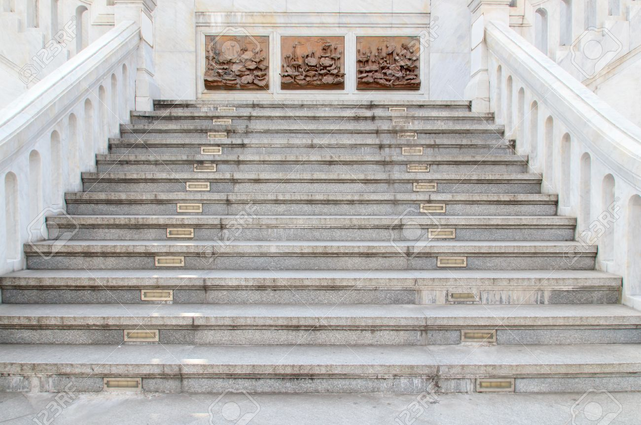 Attractive Marble Stairs, Thailand Stock Photo   17278493