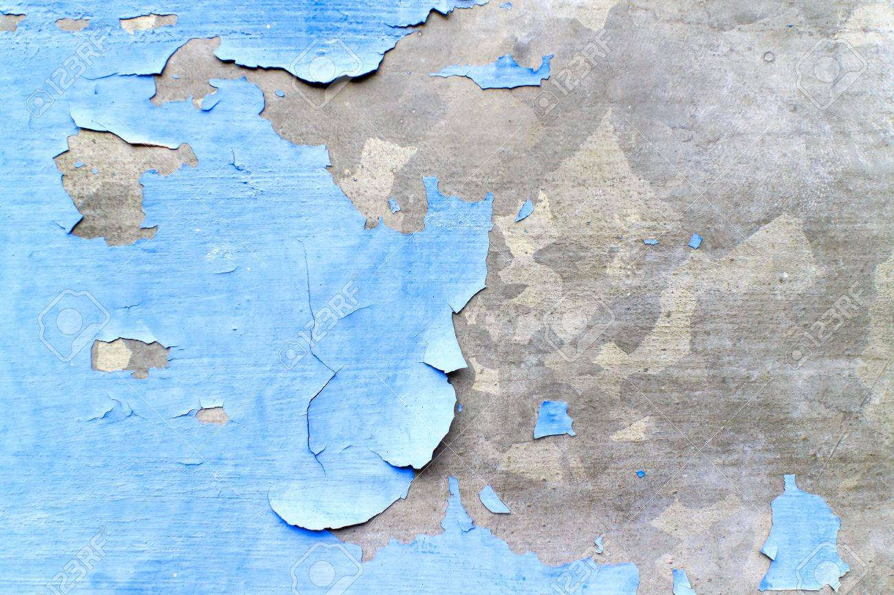 Texture background of the old decayed blue painted wall. Stock Photo - 17275366