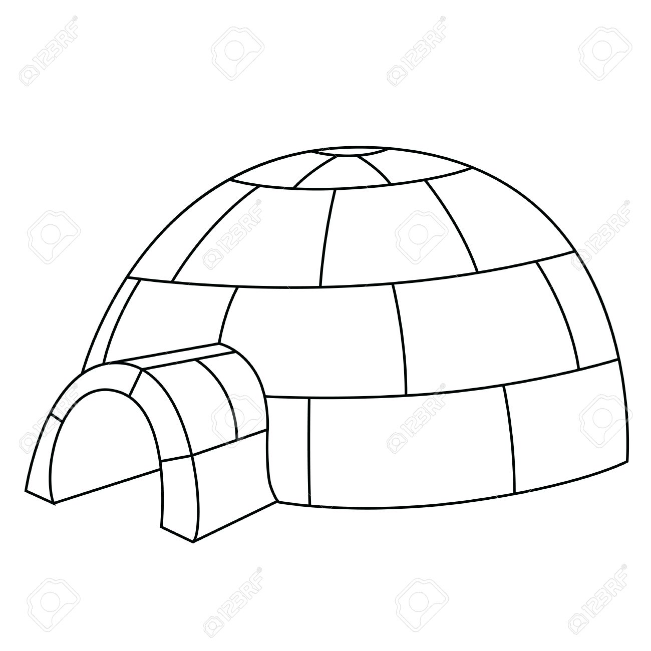 Black outline vector igloo on white background royalty free black outline vector igloo on white background stock vector 25307095 pooptronica