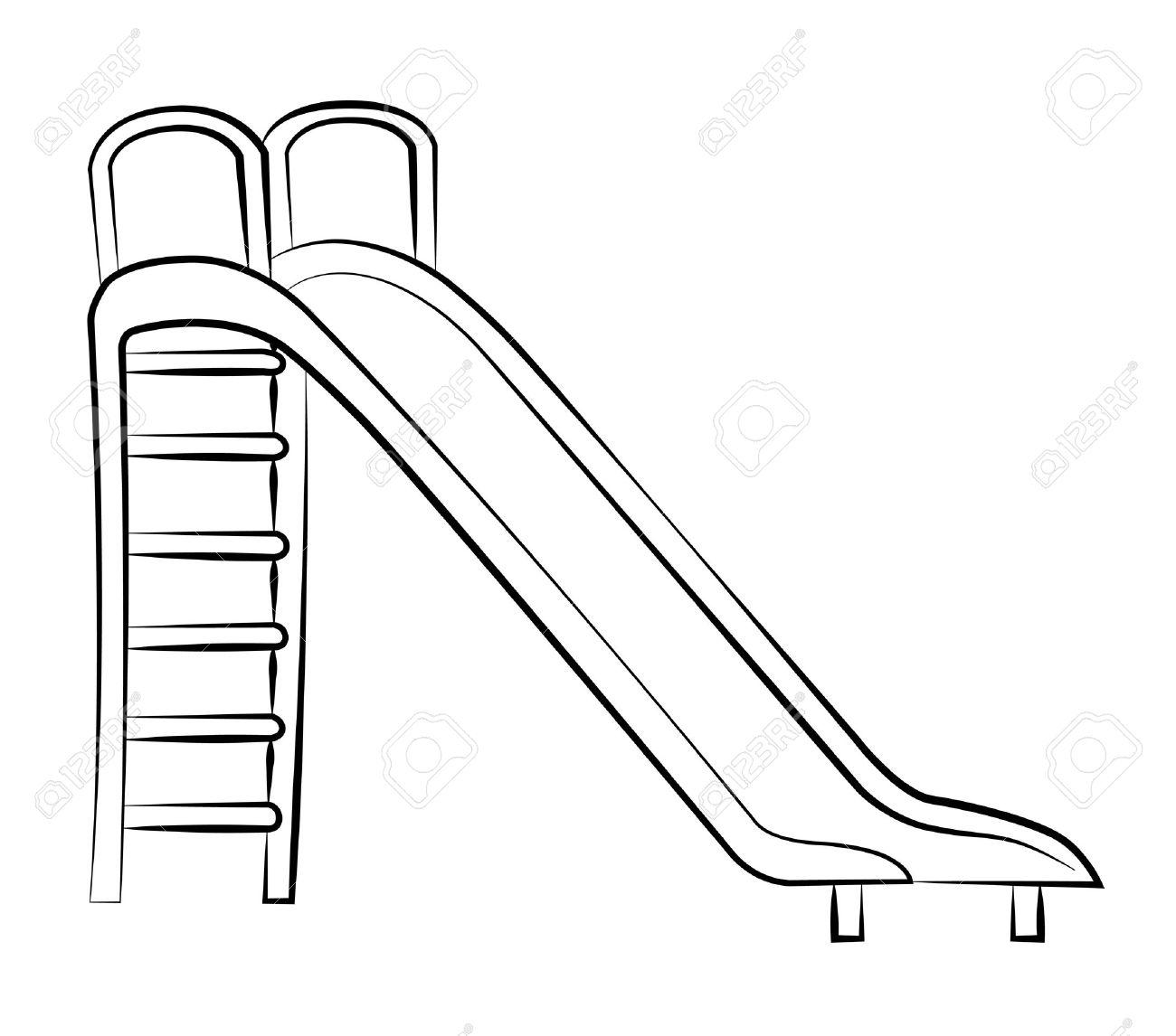 Black outline vector slide on white background. Stock Vector - 25305255