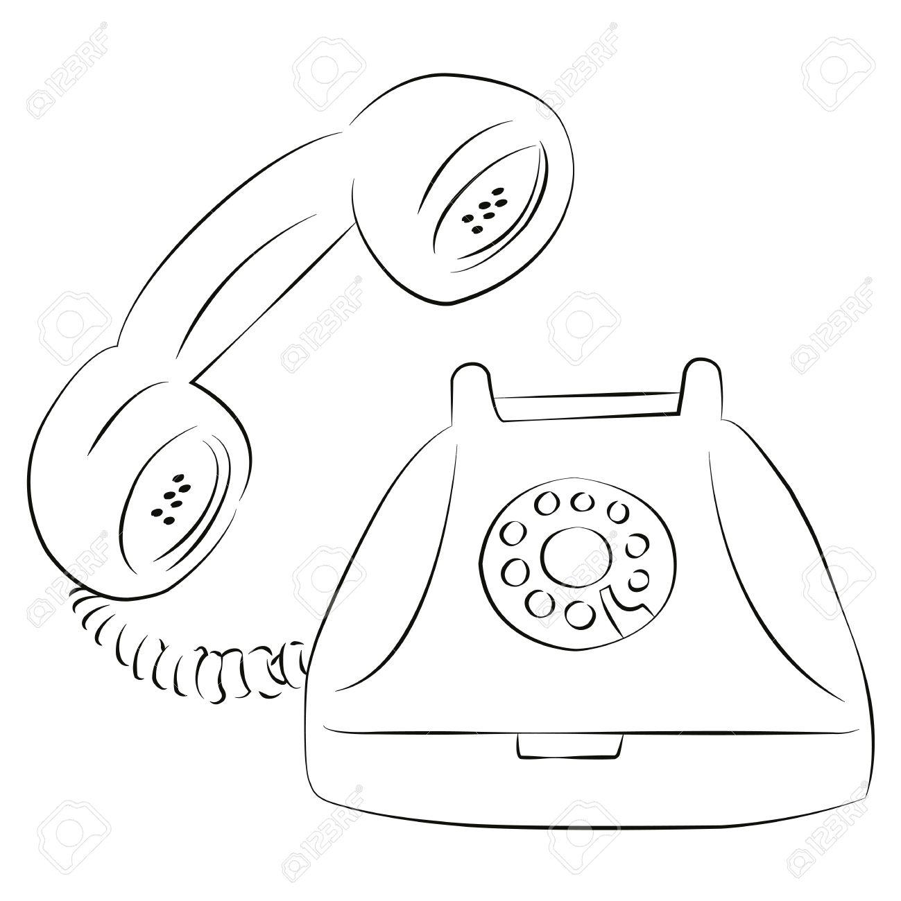 Excepcional Teléfono Para Colorear Colección de Imágenes - Enmarcado ...