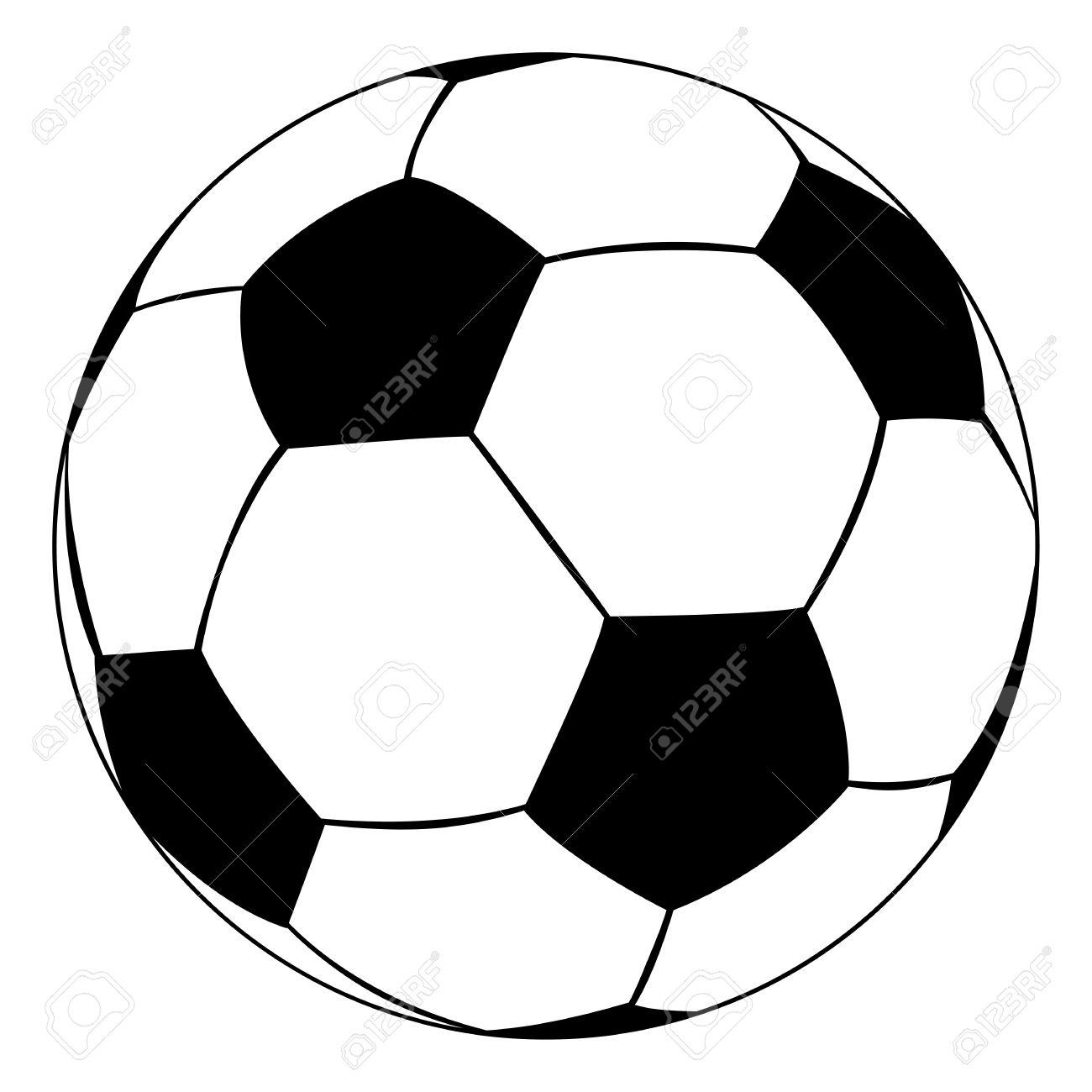 black outline vector soccer ball on white background royalty free rh 123rf com vector grunge soccer ball vector soccer ball pattern