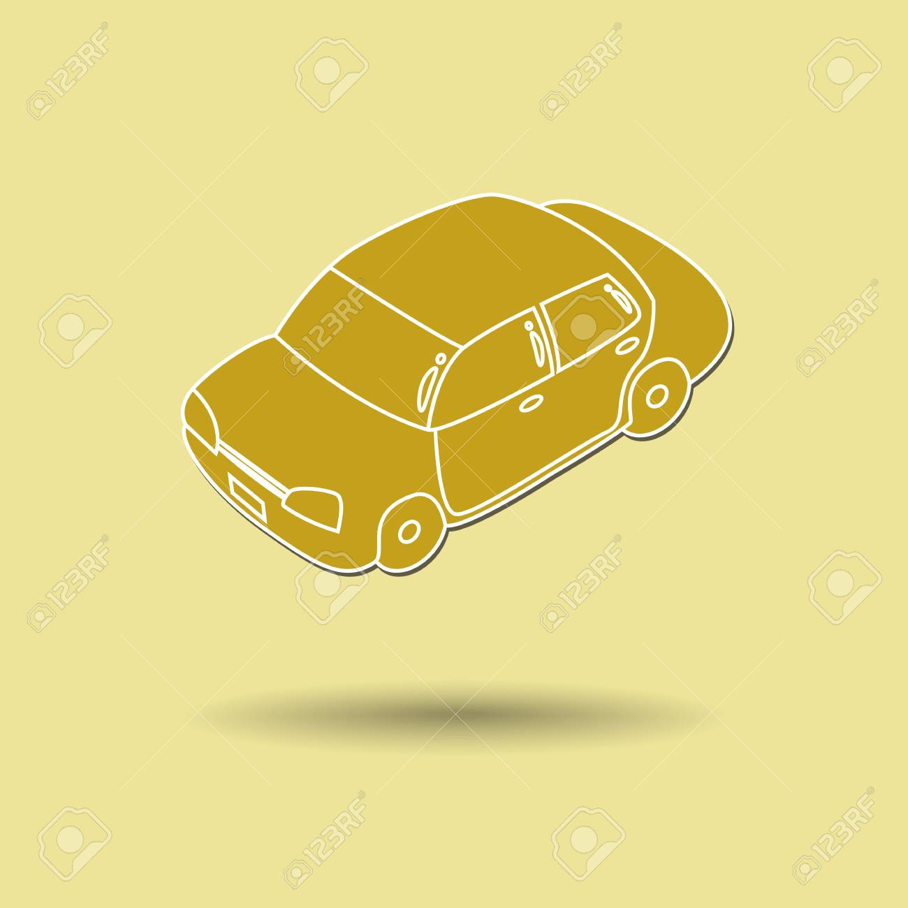 背景色に対して車のベクトル イラスト。 ロイヤリティフリークリップ