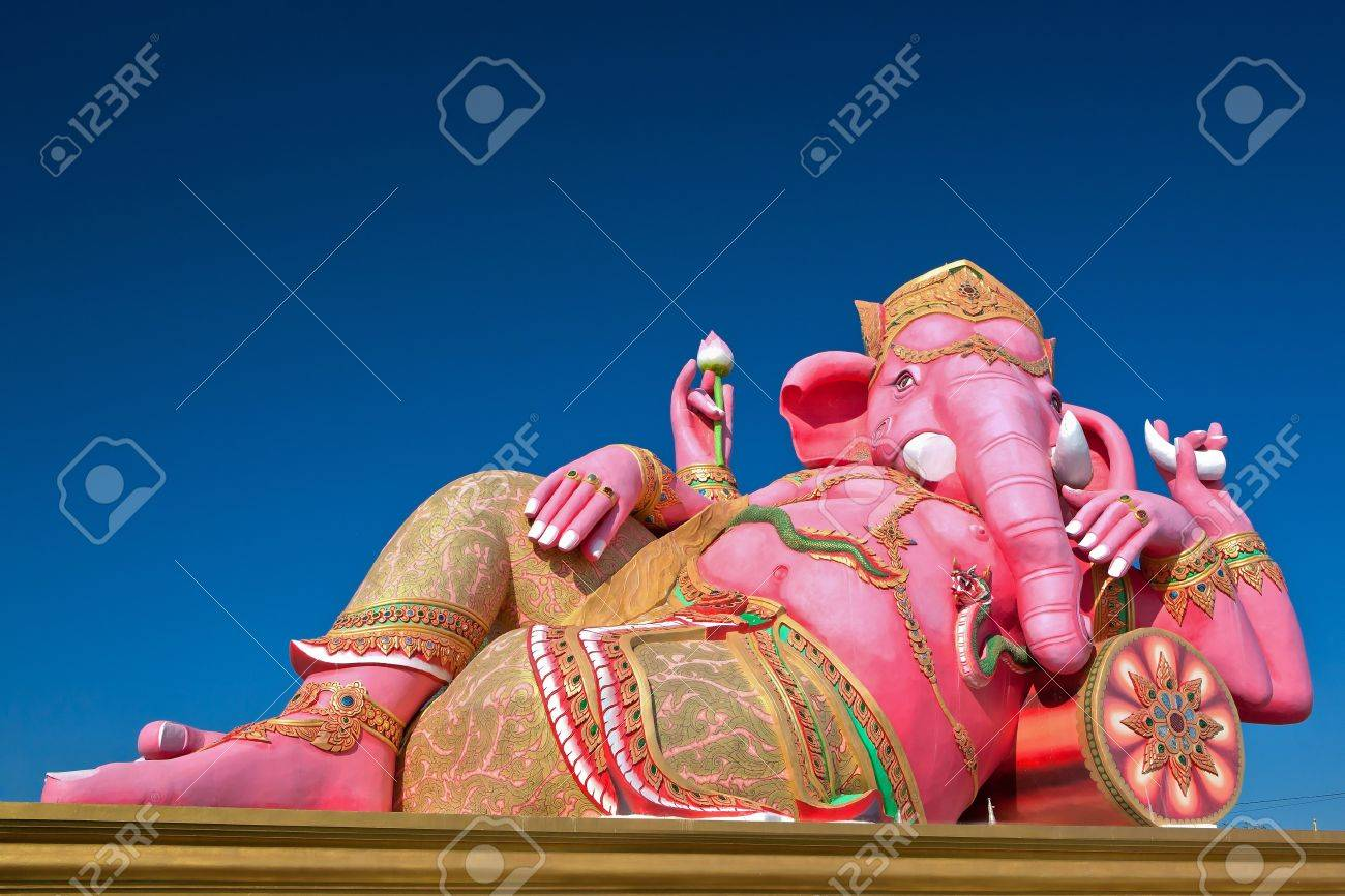 Lord Ganesh is sleeping posture. Stock Photo - 11516711