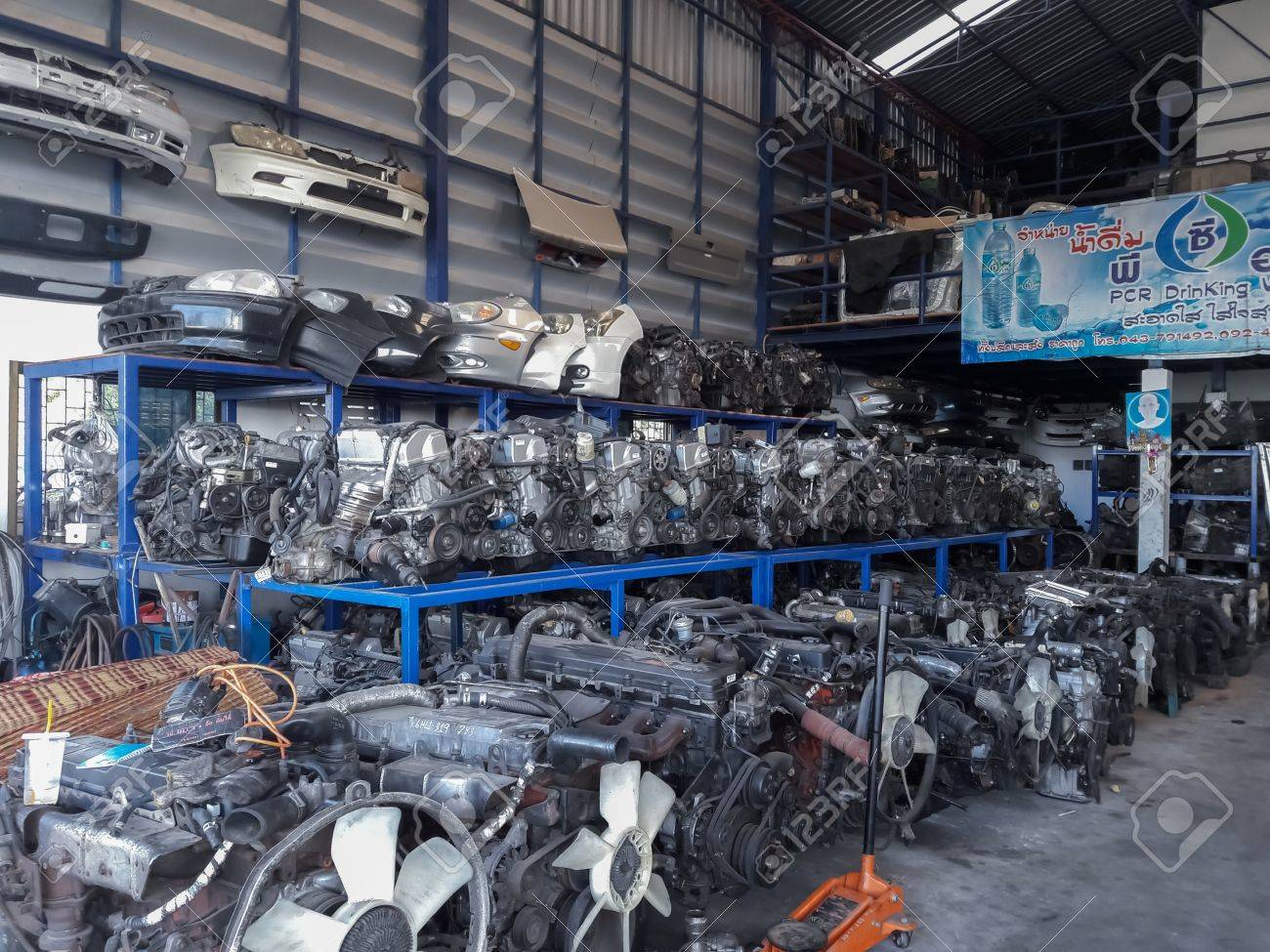 Auto Parts Stores Sell Spare Parts.Mahasarakham,Thailand,February ...