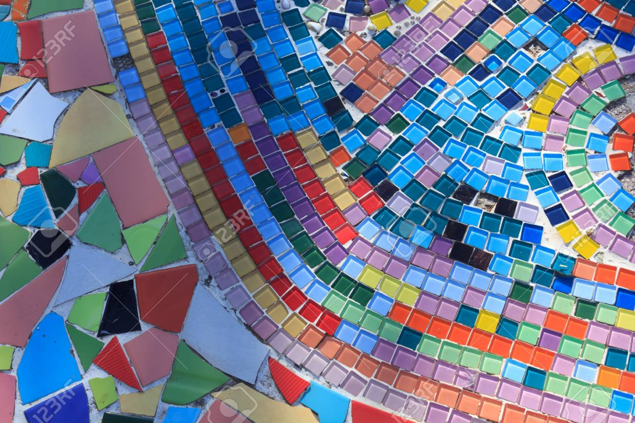 Colorful Tile Floor. Stock Photo, Picture And Royalty Free Image ...