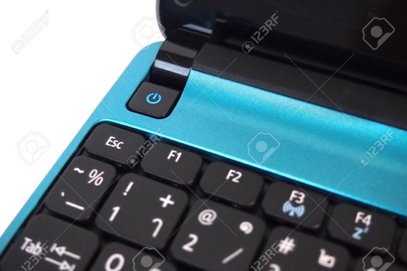 blue notebook pc Stock Photo - 18627617
