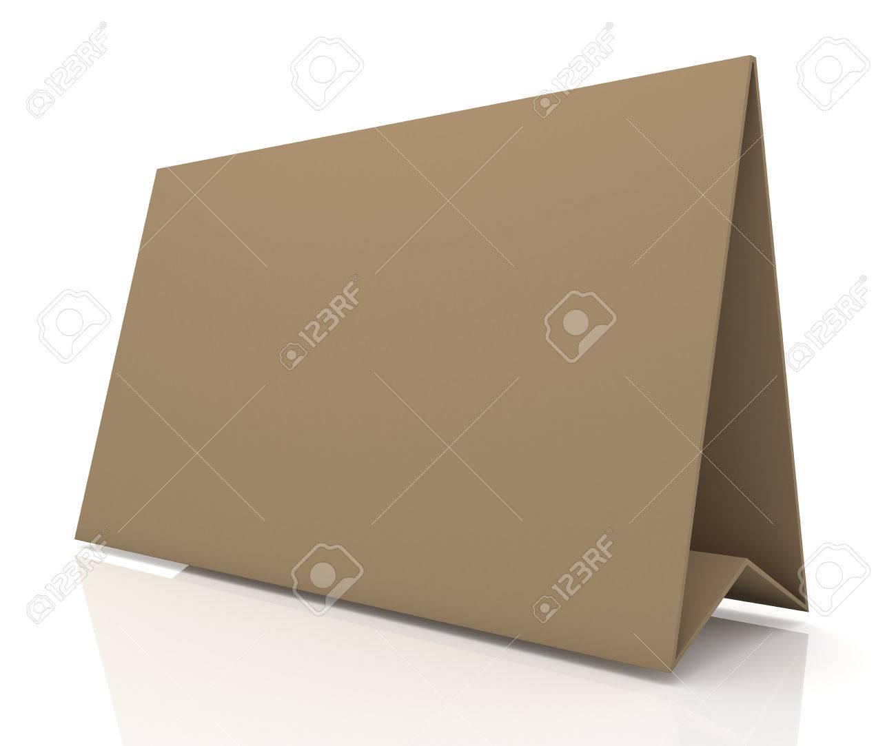 D mate originale papiers bruns de carton écran large bureau en