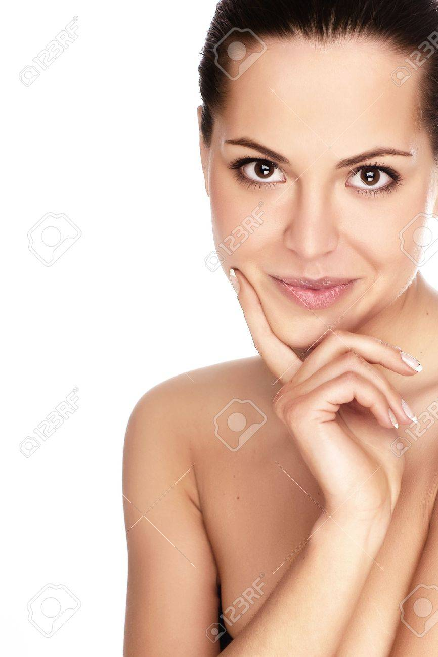 Portrait of young adult woman with health skin of face Stock Photo - 5025461
