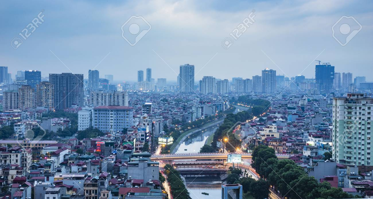 Hanoi View From The Sky Hanoi Is The Capital City Of Vietnam Stock Photo Picture And Royalty Free Image Image 45924890