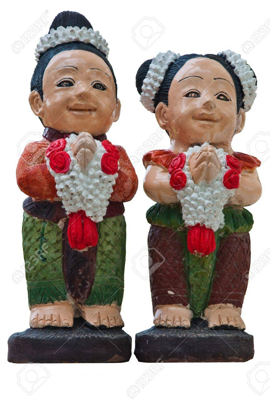 Boy and girl in thai culture greeting we call wai and say stock boy and girl in thai culture greeting we call m4hsunfo Gallery