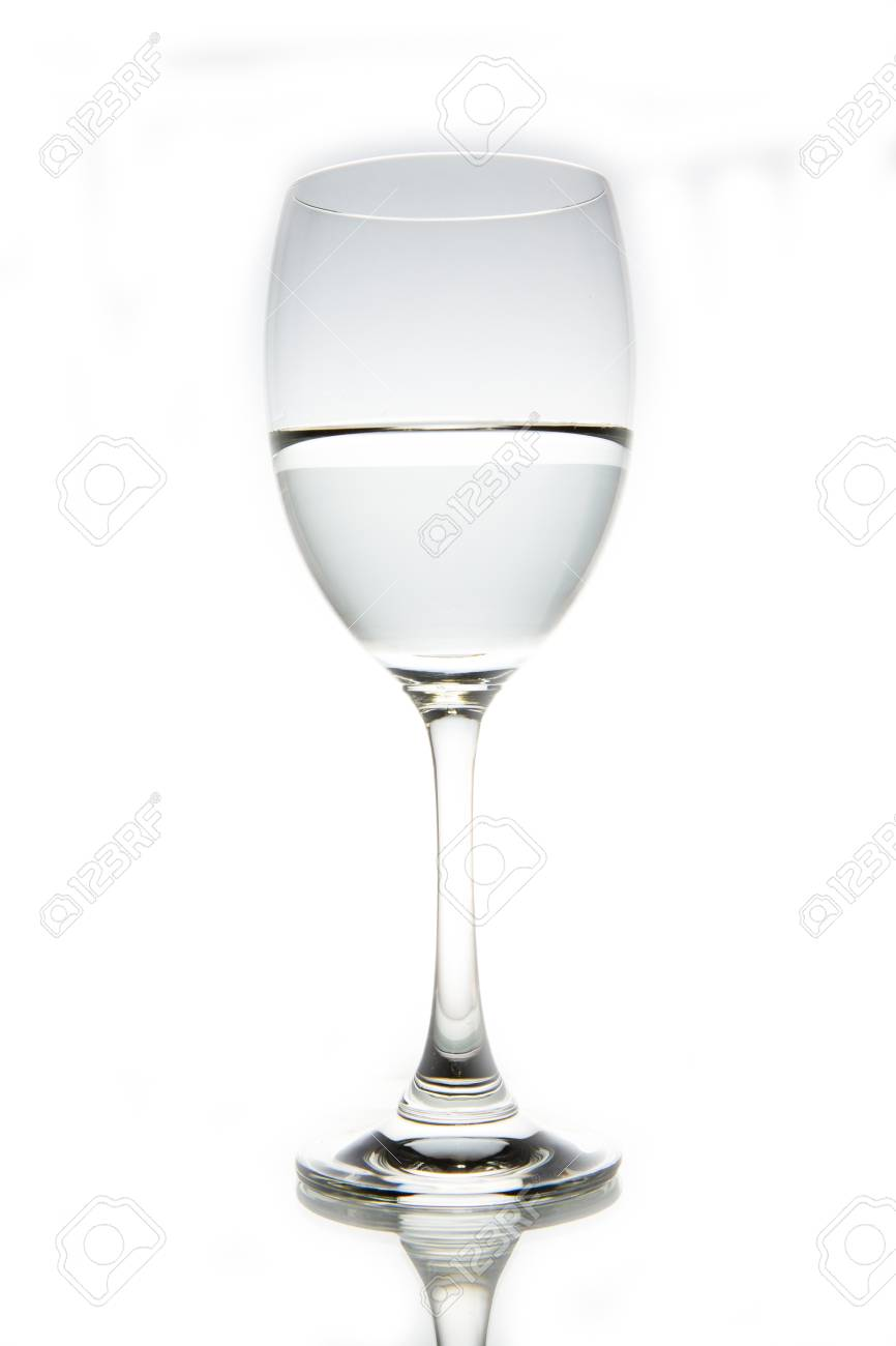 f8bb6f72d82 Glass of water isolated on white background Stock Photo - 20608076