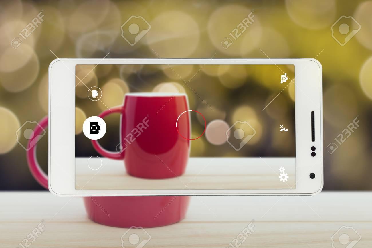 Tasse à Café Rouge Bonne Nuit Ou Avoir Un Concept De Message De Bonne Journée