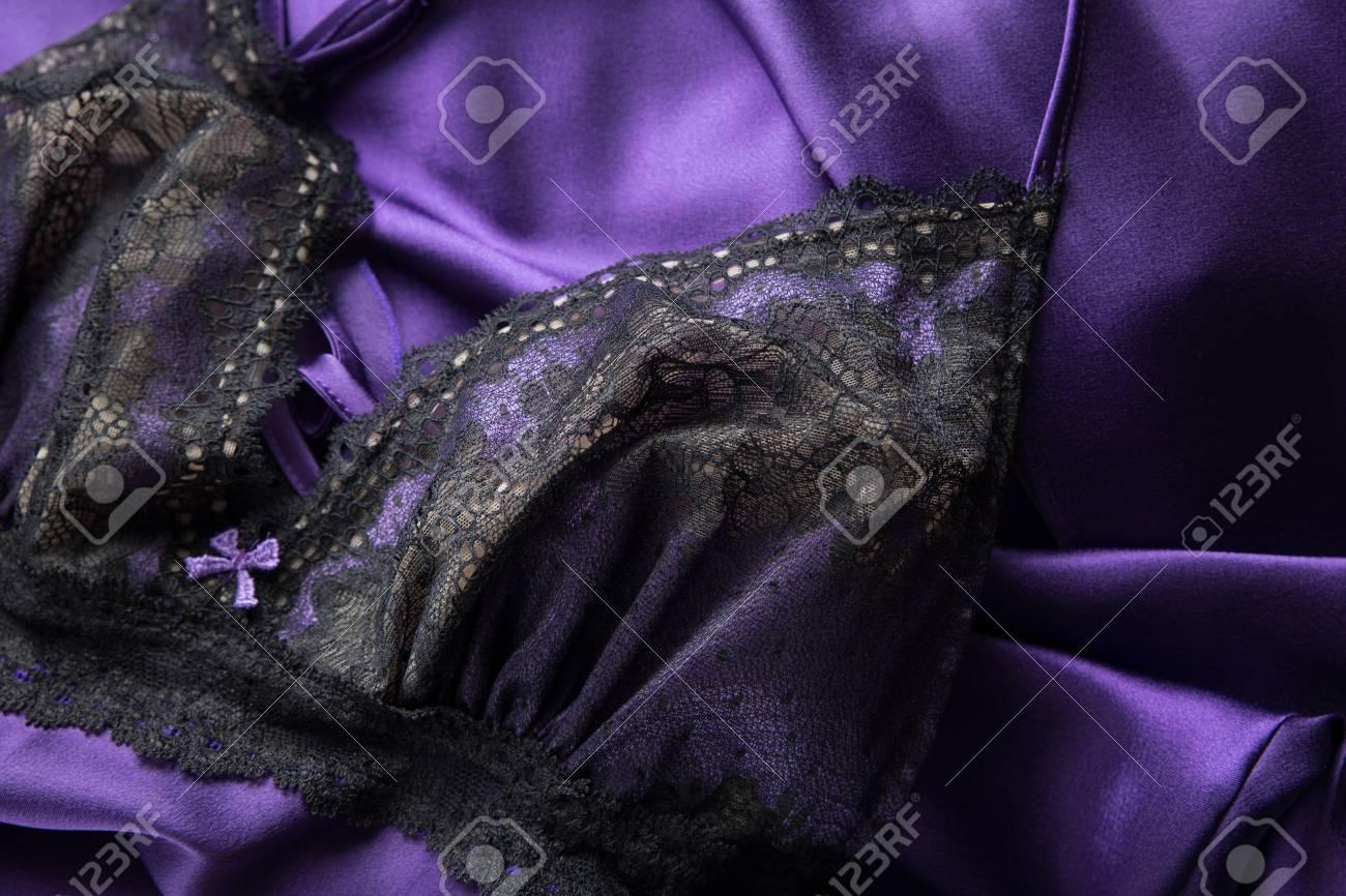 cf54cc1dd1 Lace Slip Silk Sleeping Dress Stock Photo - 80752719