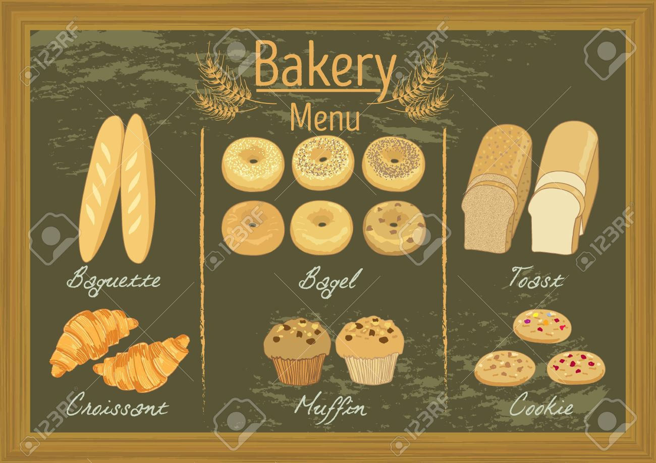 Vector bakery products on blackboard menu template for cafe vector vector bakery products on blackboard menu template for cafe or coffee shop thecheapjerseys Images