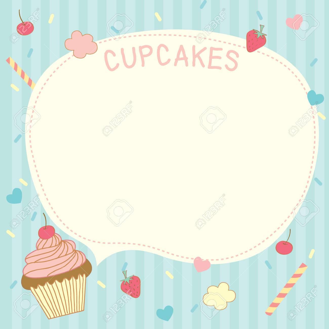 cupcakes vector template design for menu recipe dessert notepad cupcakes vector template design for menu recipe dessert notepad memo notebook