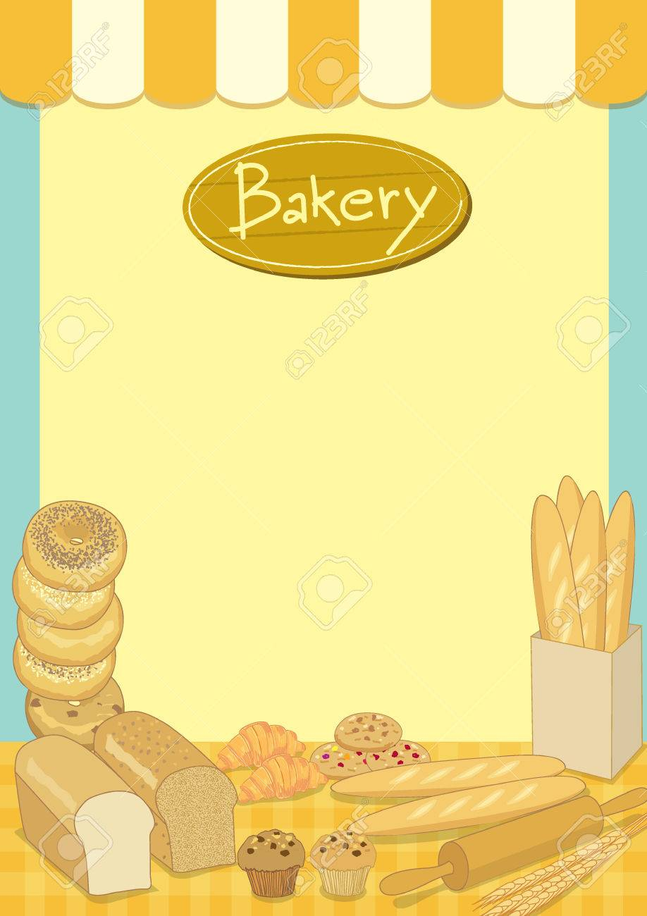 Menu Template Design Vector Illustration.Bakery Cafe Shop.Empty ...