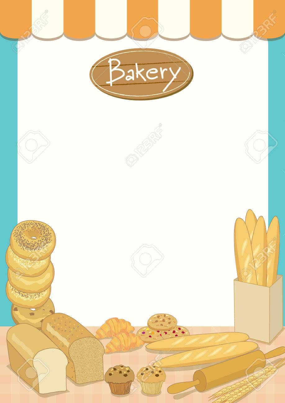 menu template design vector illustration bakery cafe shop blank