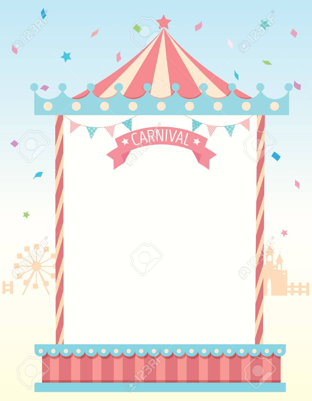 Illustration Vector Of Circus Template Frame For Carnival Festival ...