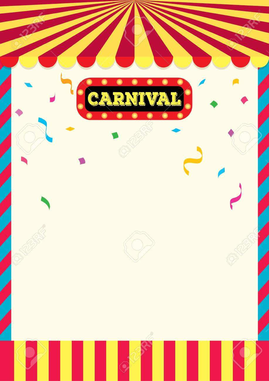 carnival sign and frame design background template for poster