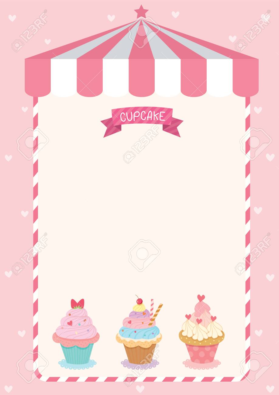 Menu template with glass of pink martini royalty free cliparts.