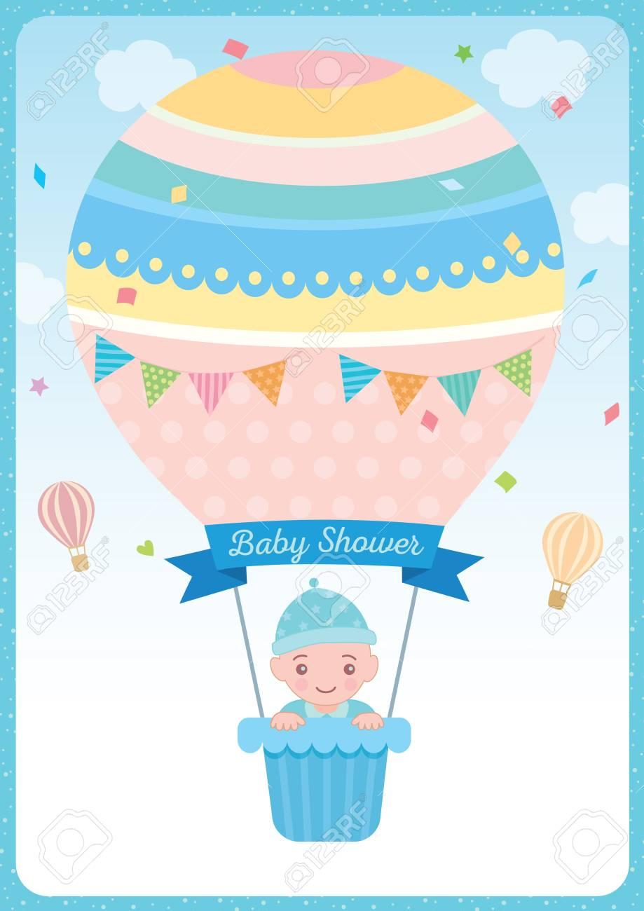 Hot balloon new baby card