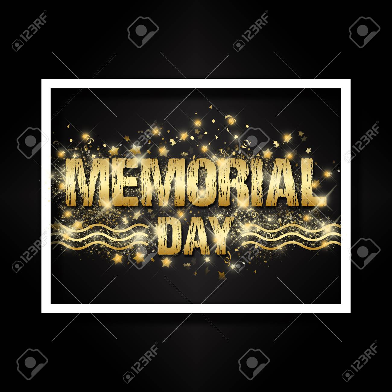 An Abstract Background Design For Memorial Day With Sparkles