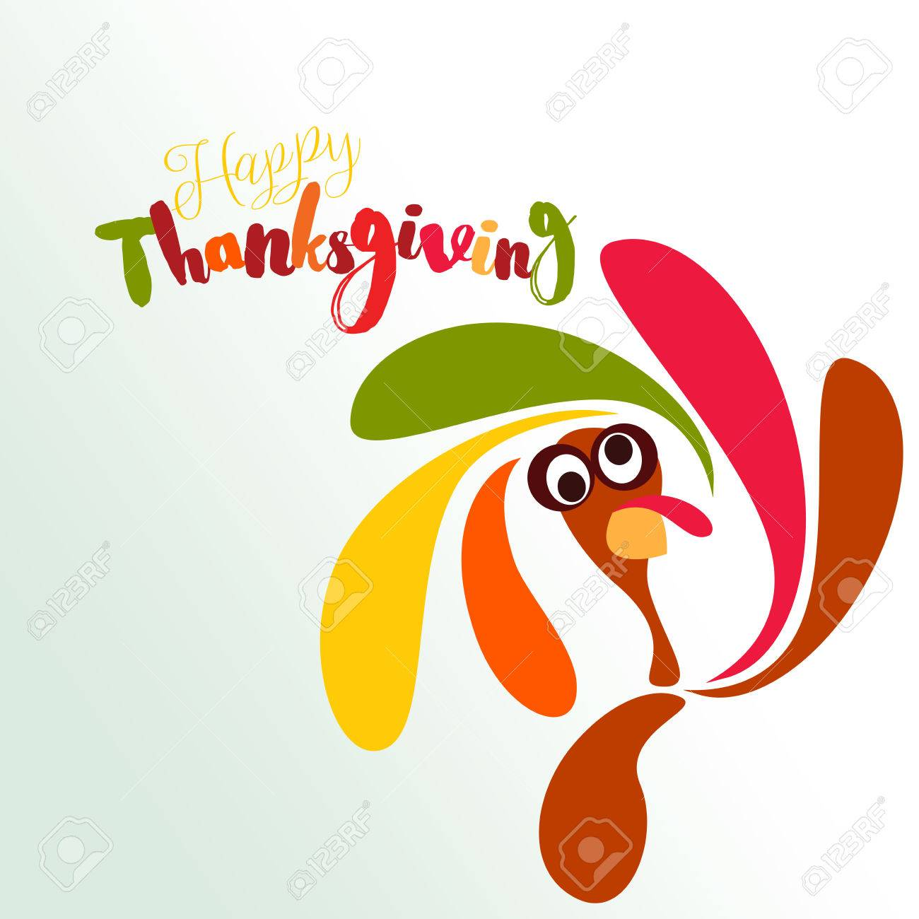 Happy thanksgiving greeting card with a funny turkey stock photo happy thanksgiving greeting card with a funny turkey stock photo 81276758 m4hsunfo