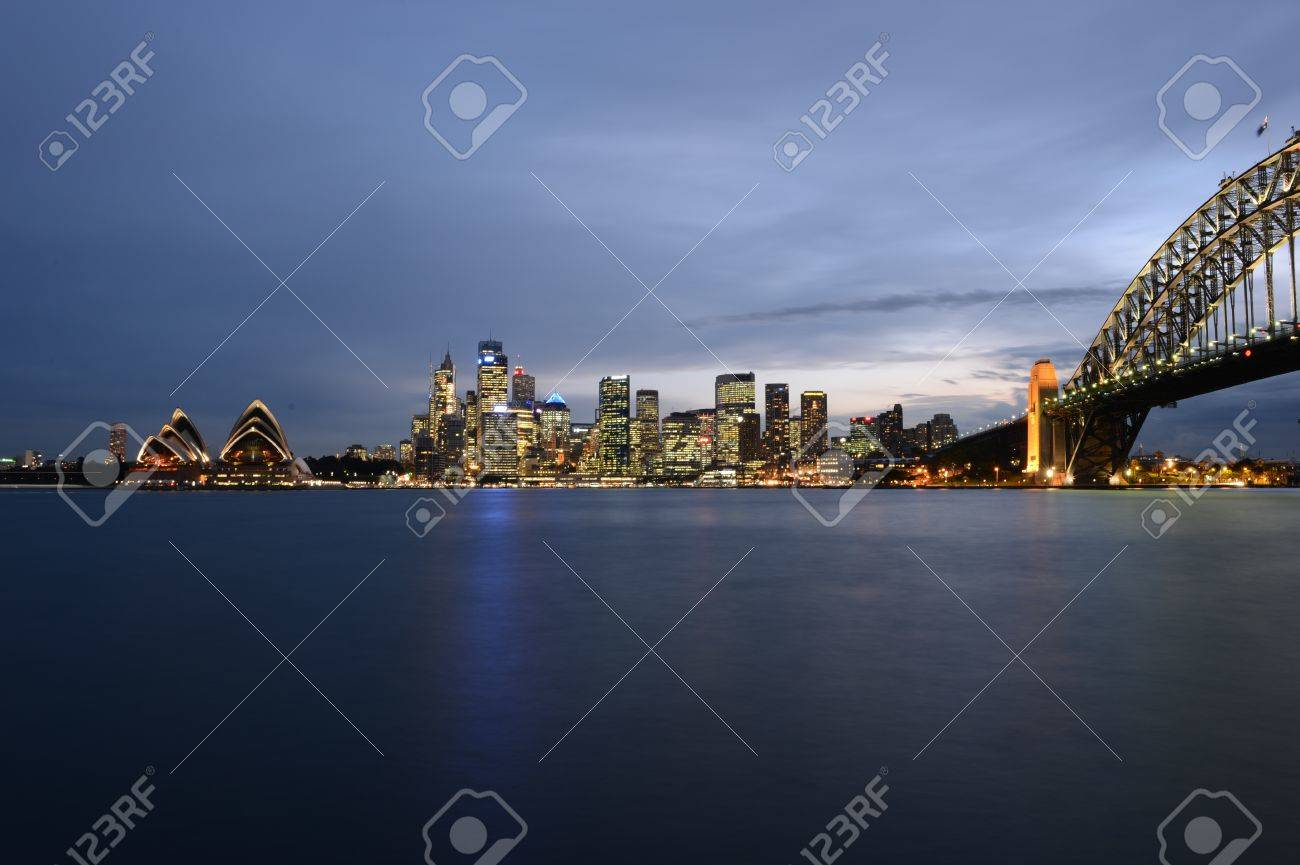 Sydney skyline at sunset - 14464176
