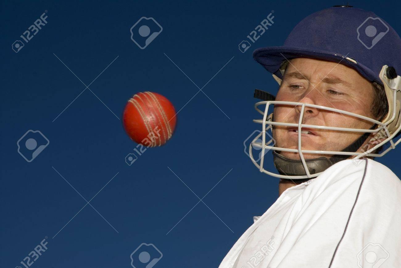 Cricketer evades a bouncer - 14464127