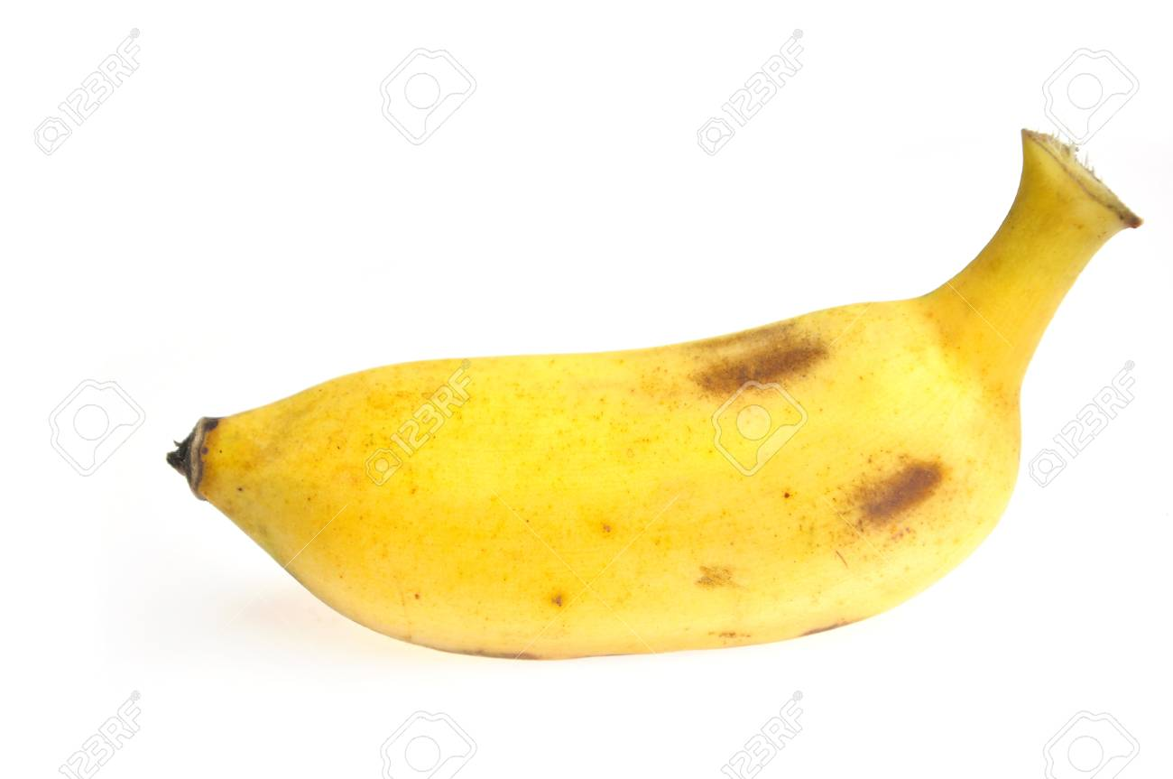 cultivated banana on white background Stock Photo - 14711666