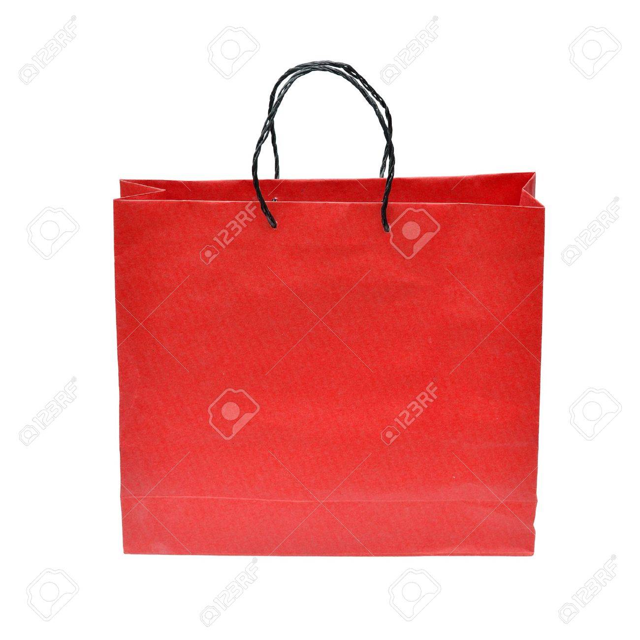 aa52218820c15 Red paper bag for shopping Stock Photo - 15160335