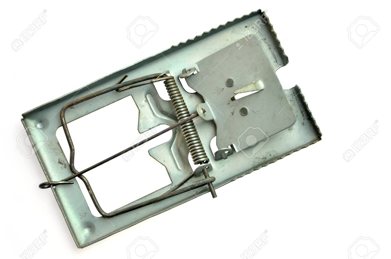 metal mousetrap  isolated on white background Stock Photo - 16802625