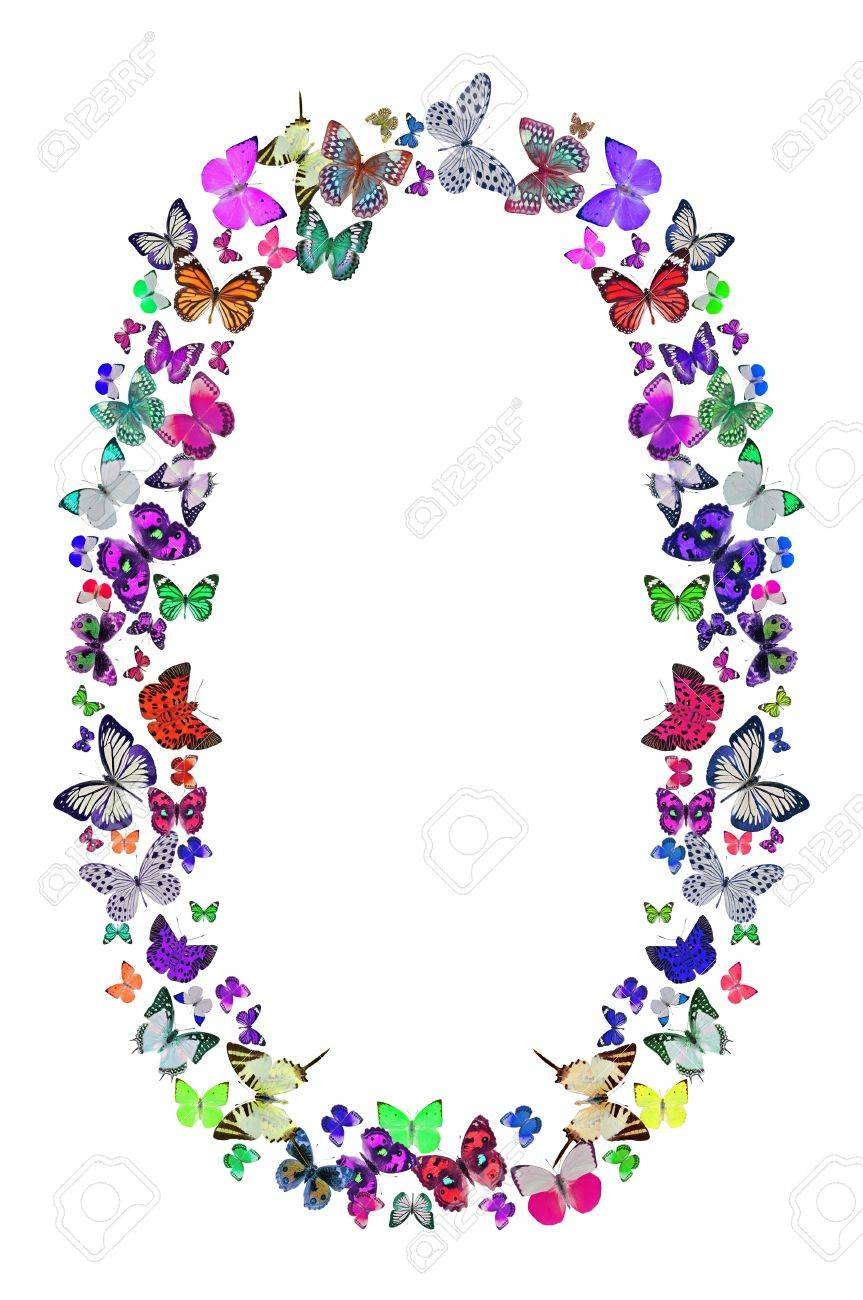Butterfly Font In White Letter O