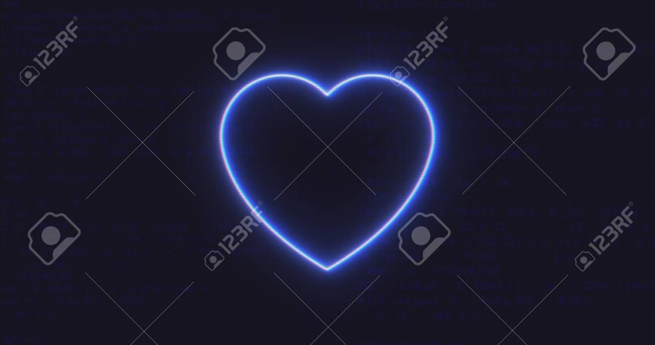 Futuristic interface heart icon on computer code running background futuristic interface heart icon on computer code running background stock photo 83359356 buycottarizona Choice Image