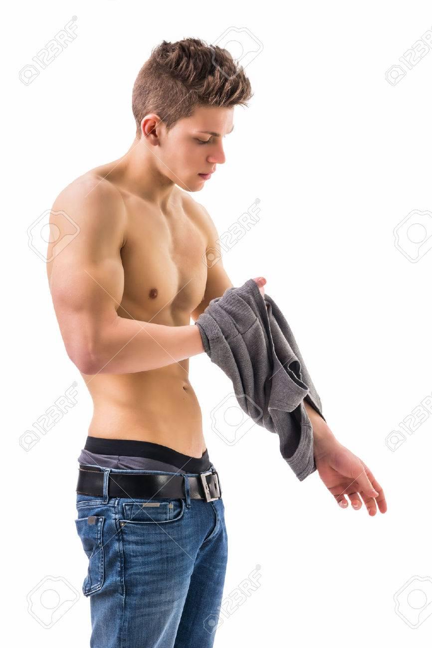 Men undressing