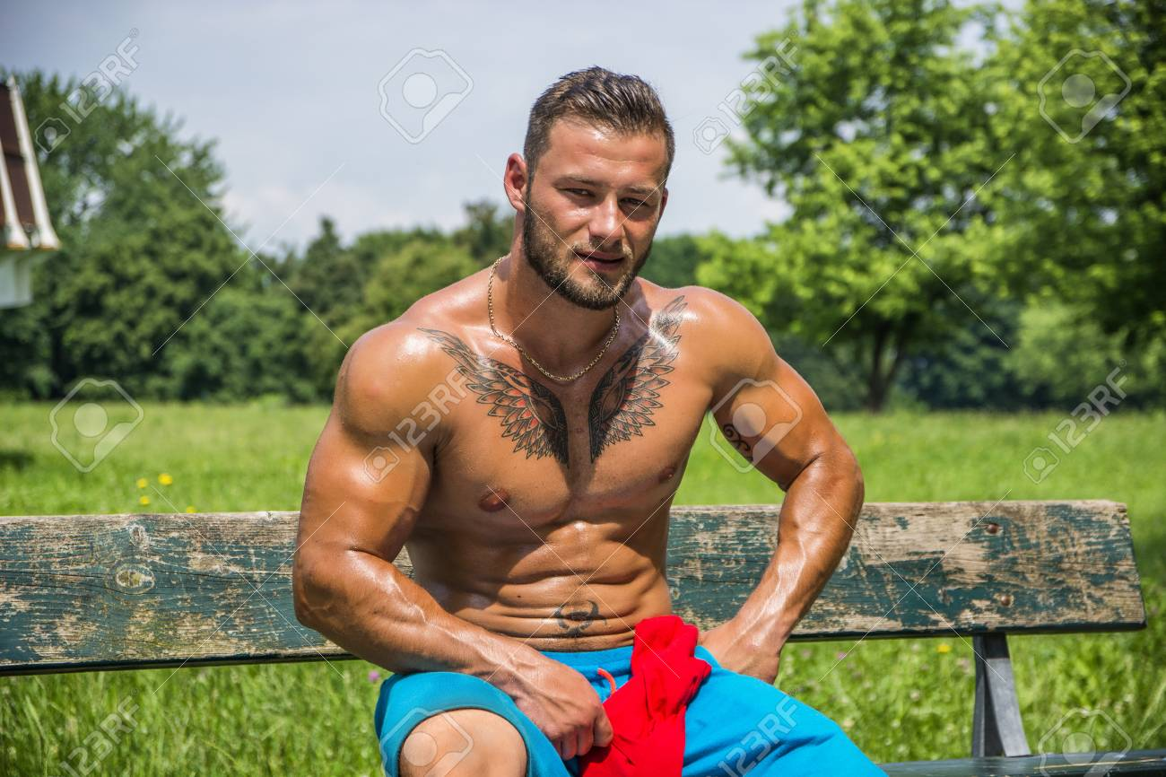 Hunk Muscle Handsome Outdoors