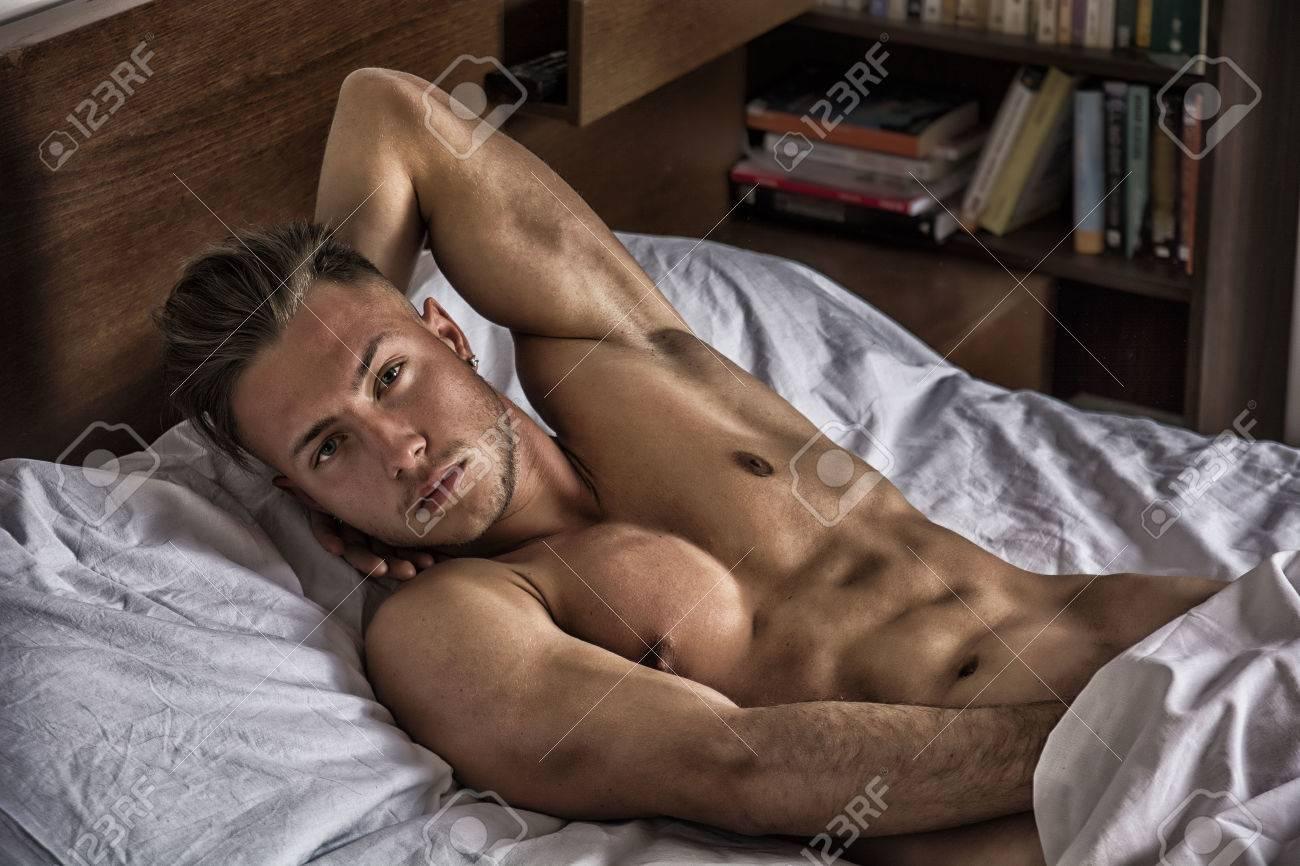 Sexy nude men touching