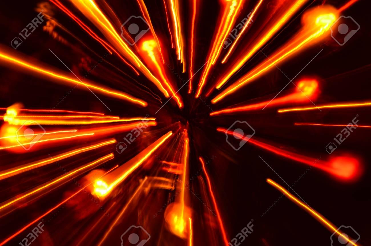 ライトの複数の色の爆発 トンネル効果壁紙 の写真素材 画像素材