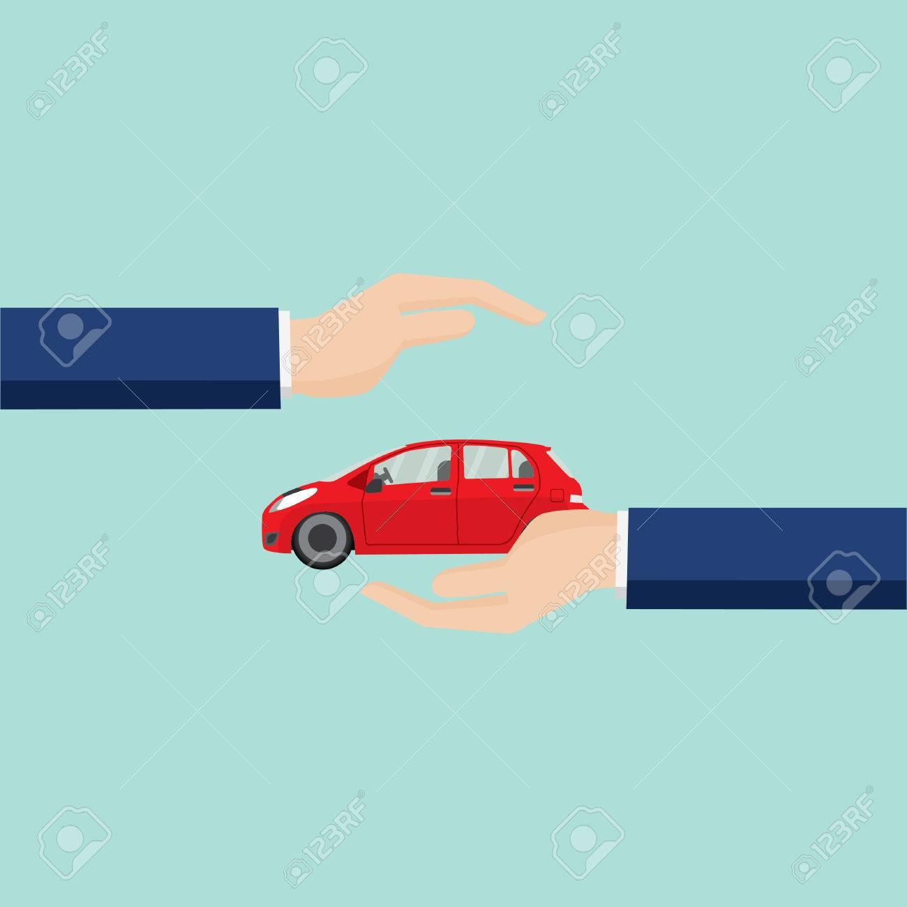 Auto-Schutz, Business-Service-Icons Vorlage. Kann Für Die Workflow ...