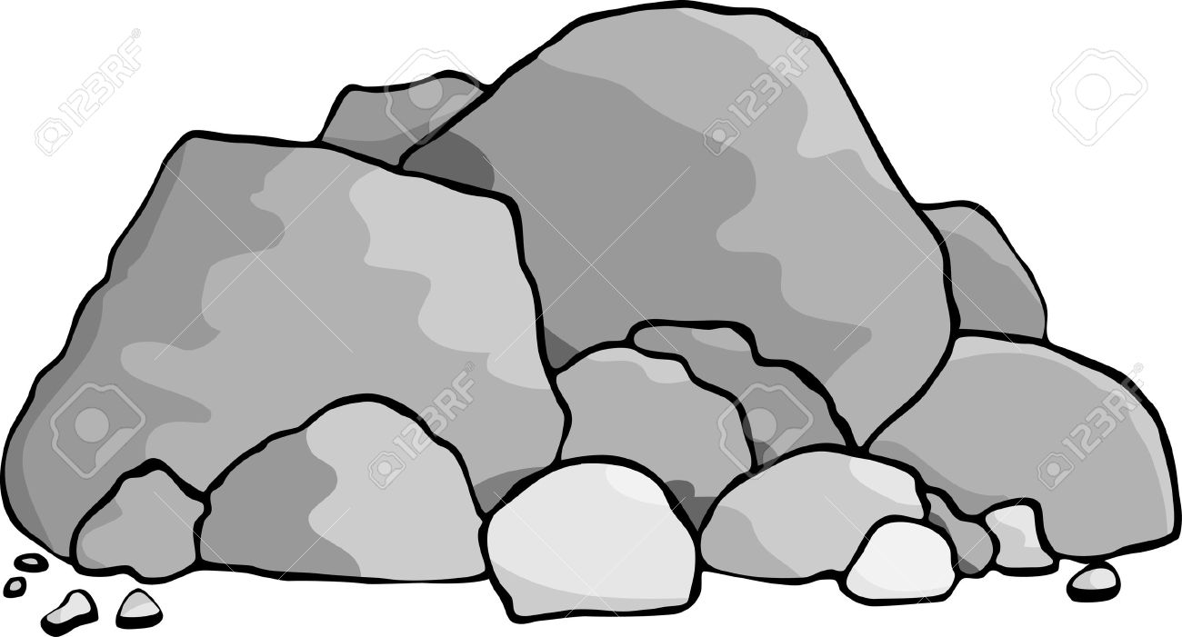 a pile of boulders and rocks royalty free cliparts vectors and rh 123rf com Stone Rock Vector free vector pile of rocks