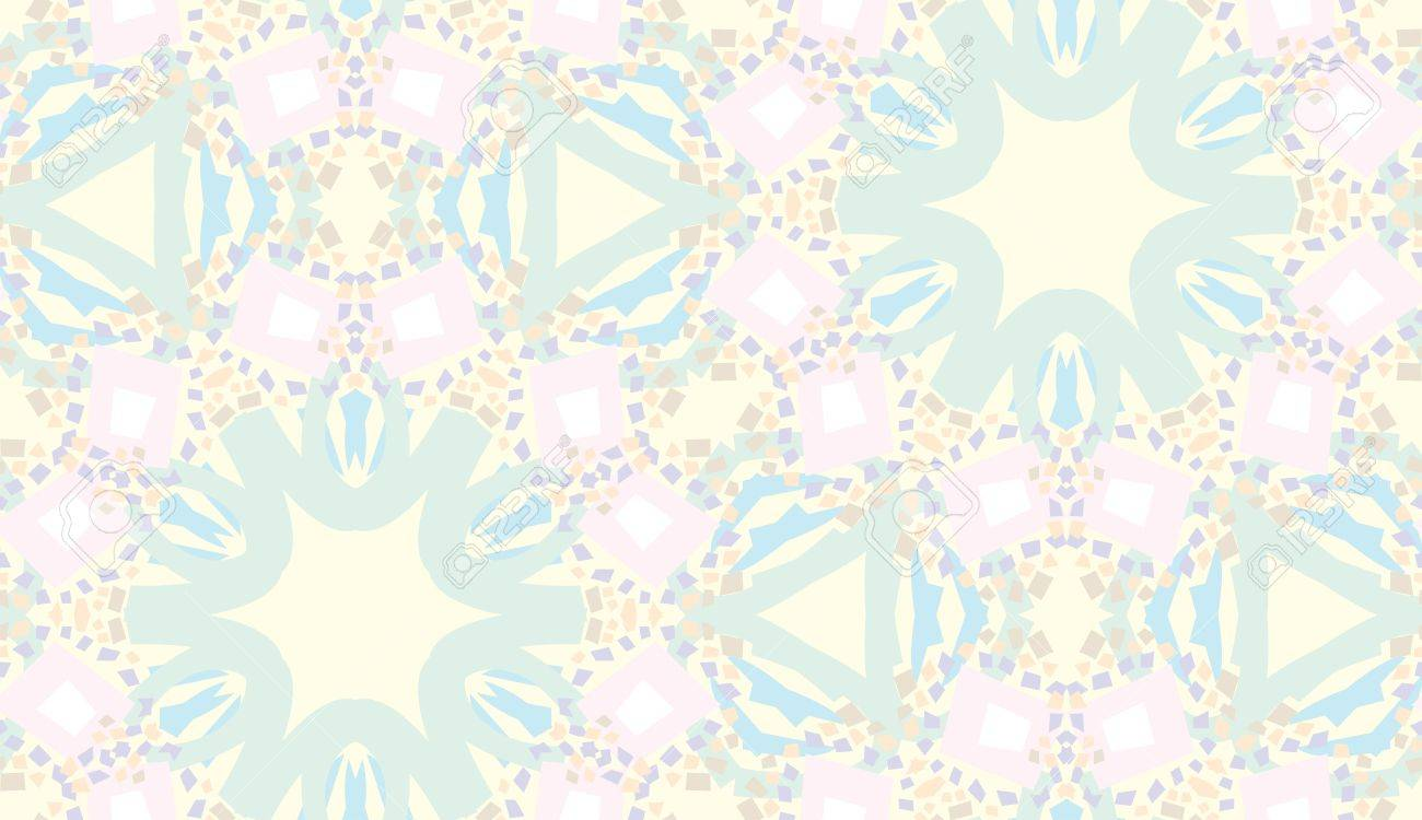 Light pink and yellow seamless background kaleidoscope pattern Stock Vector - 10679643